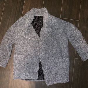 Forever 21 gray fuzzy jacket